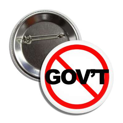no government red slash button