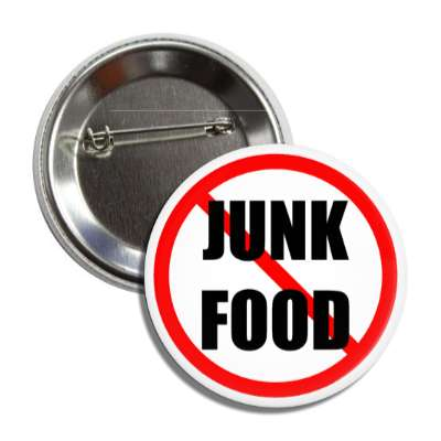 no junk food red slash button