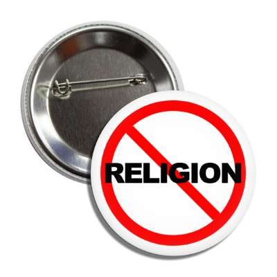 no religion red slash button