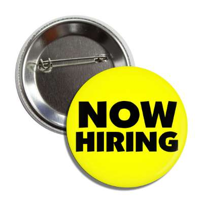 now hiring yellow button