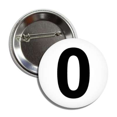 number 0 white black button