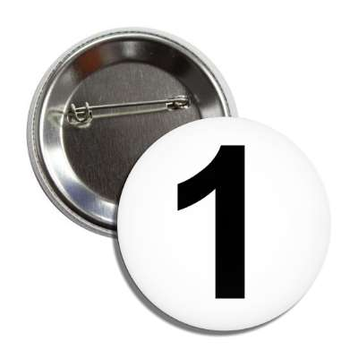 number 1 white black button