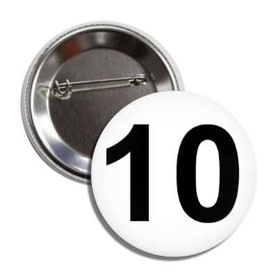 number 10 white black button