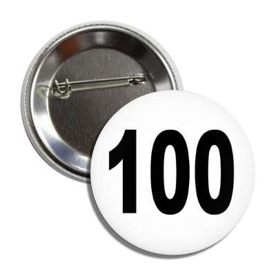 number 100 white black button