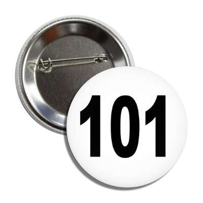 number 101 white black button