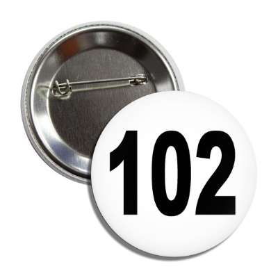 number 102 white black button