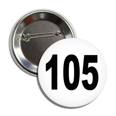 number 105 white black button