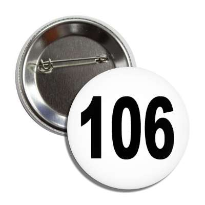 number 106 white black button