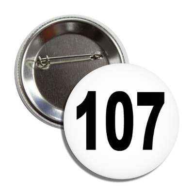 number 107 white black button