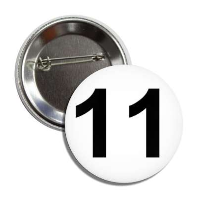 number 11 white black button