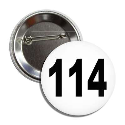 number 114 white black button