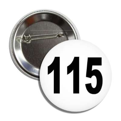 number 115 white black button