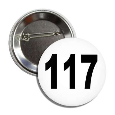 number 117 white black button