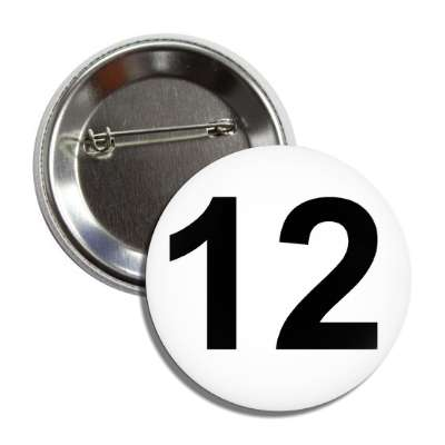 number 12 white black button