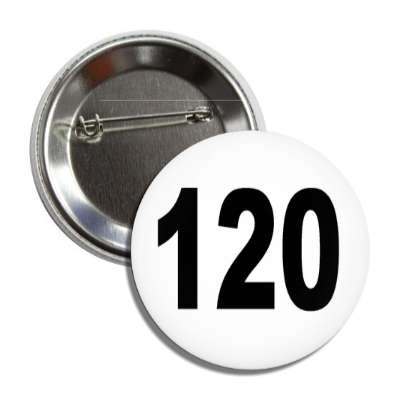 number 120 white black button