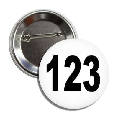 number 123 white black button