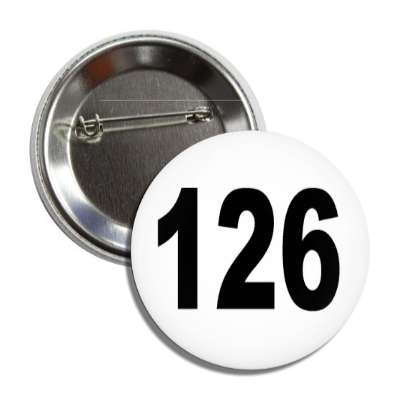 number 126 white black button