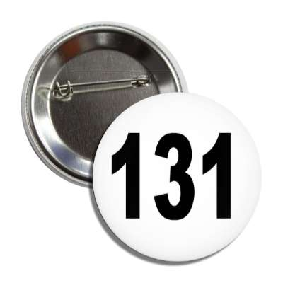 number 131 white black button