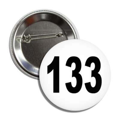 number 133 white black button