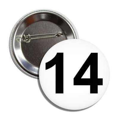 number 14 white black button