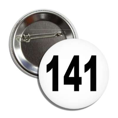 number 141 white black button