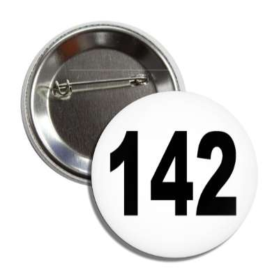 number 142 white black button