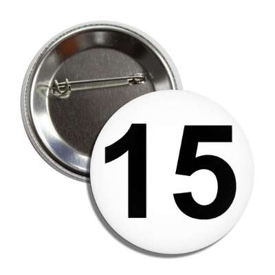 number 15 white black button