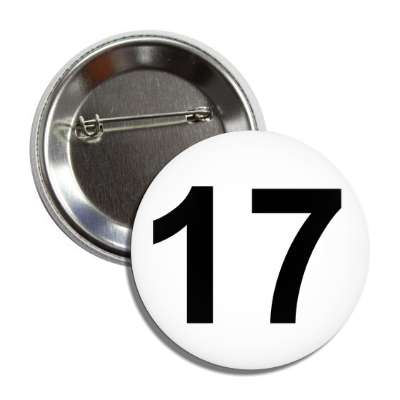 number 17 white black button