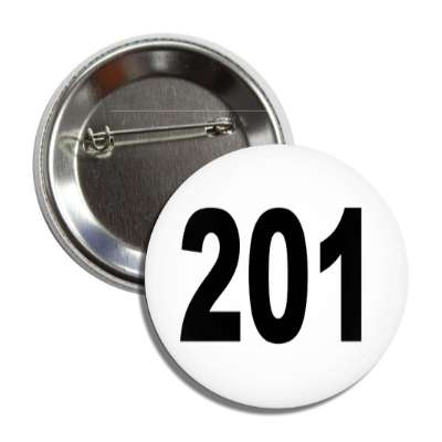 number 201 white black button