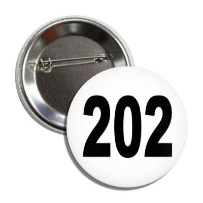 number 202 white black button
