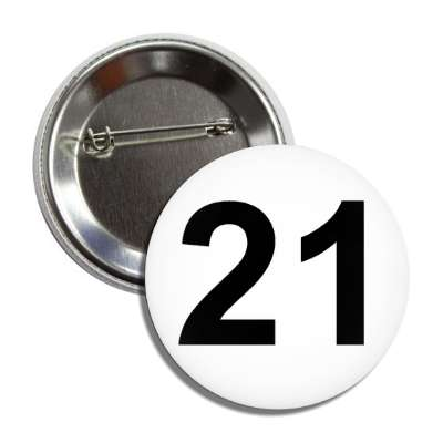 number 21 white black button