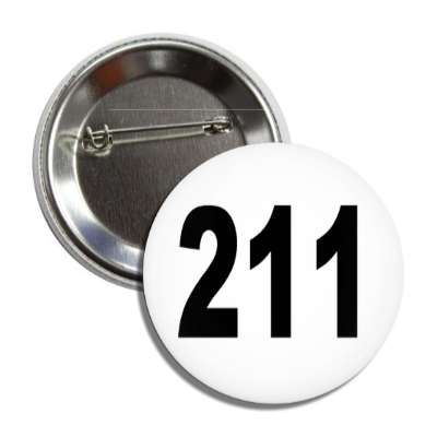number 211 white black button
