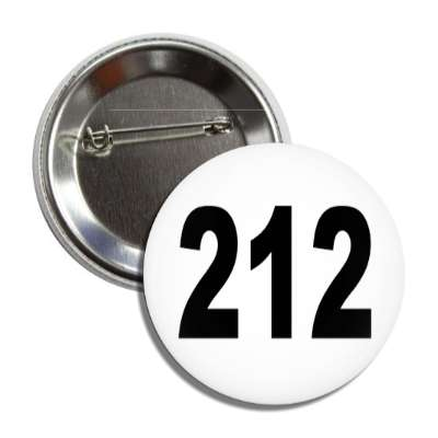 number 212 white black button
