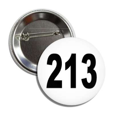 number 213 white black button