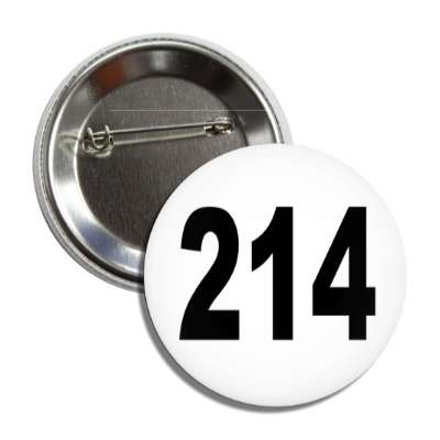 number 214 white black button