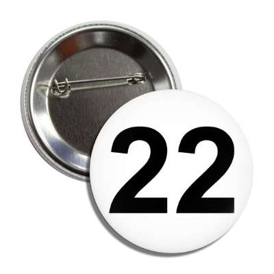 number 22 white black button