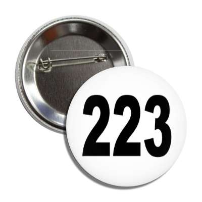 number 223 white black button