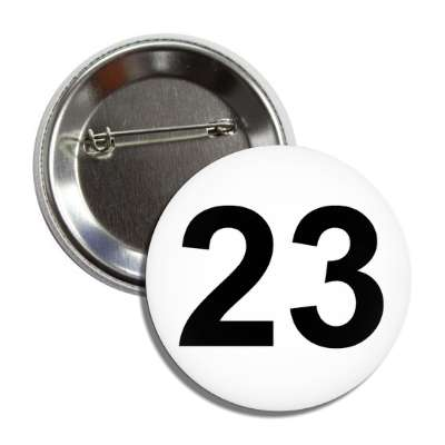 number 23 white black button