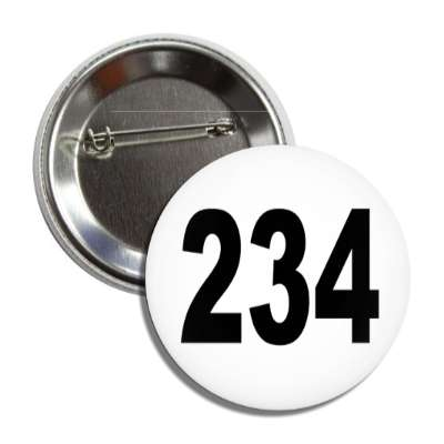number 234 white black button