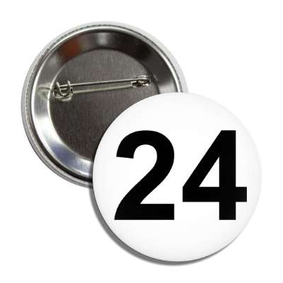 number 24 white black button