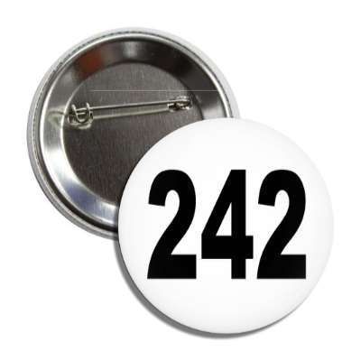 number 242 white black button
