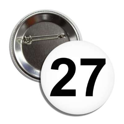 number 27 white black button