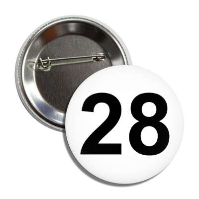 number 28 white black button