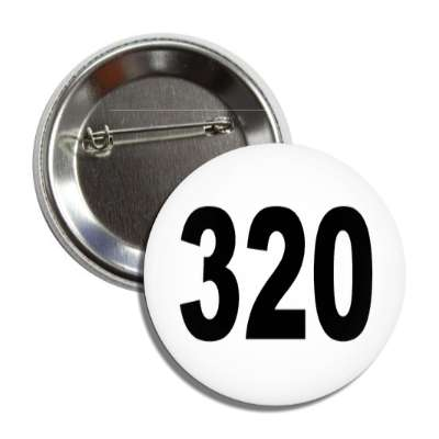 number 320 white black button