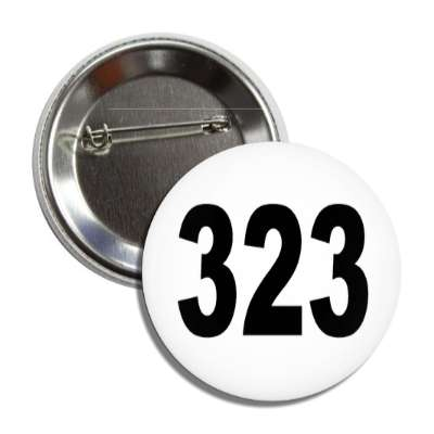 number 323 white black button