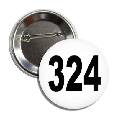 number 324 white black button