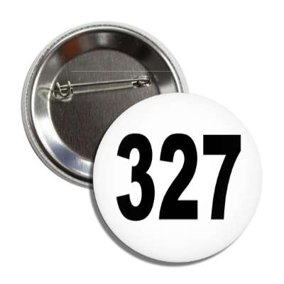 number 327 white black button