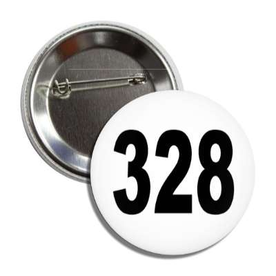 number 328 white black button