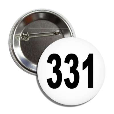 number 331 white black button