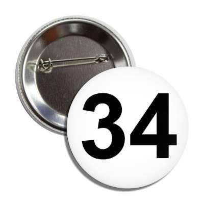 number 34 white black button